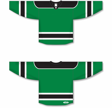 Load image into Gallery viewer, Kelly, Black, White Select Blank Hockey Jerseys