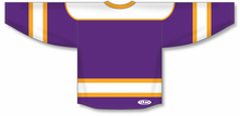 Load image into Gallery viewer, Purple, White, Gold Select Blank Hockey Jerseys