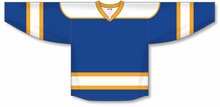 Load image into Gallery viewer, Royal, White, Gold Select Blank Hockey Jerseys