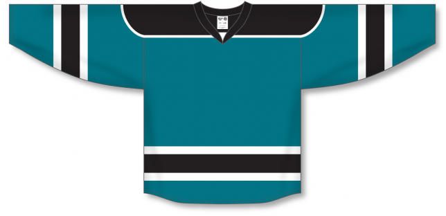 Teal, Black, White Select Blank Hockey Jerseys