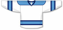 Load image into Gallery viewer, White, Sky, Navy Select Blank Hockey Jerseys