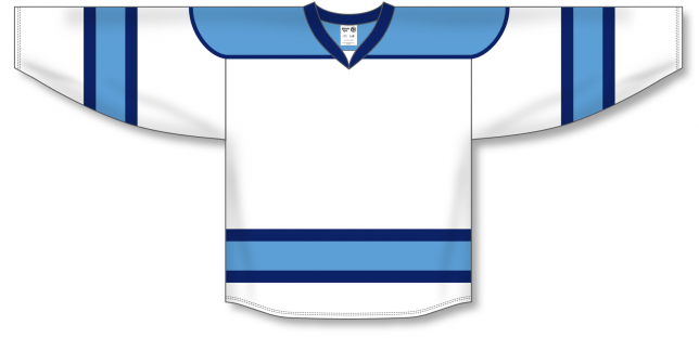 White, Sky, Navy Select Blank Hockey Jerseys