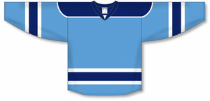 Sky, Navy, White Select Blank Hockey Jerseys