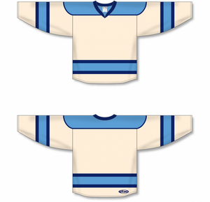 Sand, Sky, Navy Select Blank Hockey Jerseys