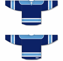 Load image into Gallery viewer, Navy, Sky, White Select Blank Hockey Jerseys