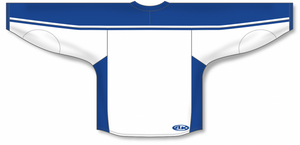 White, Royal Select Blank Hockey Jerseys