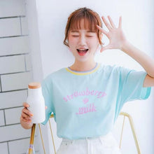 Load image into Gallery viewer, Pastel Strawberry Milk T-Shirt-Mochipan