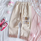 Quirky Dog Cat Pants-Mochipan