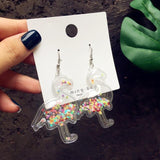 Glitter Cloud Earrings-Mochipan