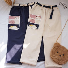 Load image into Gallery viewer, Korean Kitty Cargo Pants-Mochipan