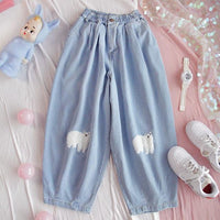 Kawaii Wide Leg Trousers - Mochipan