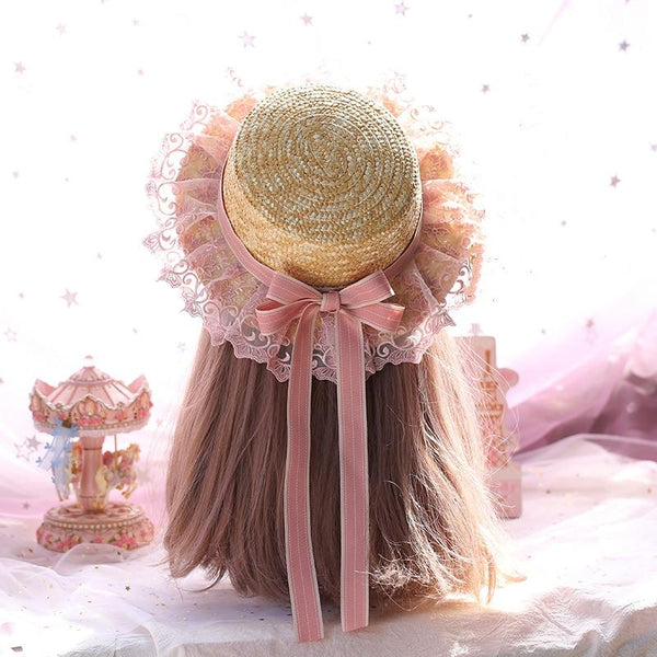 Sweet Pink Lace Sun Hat