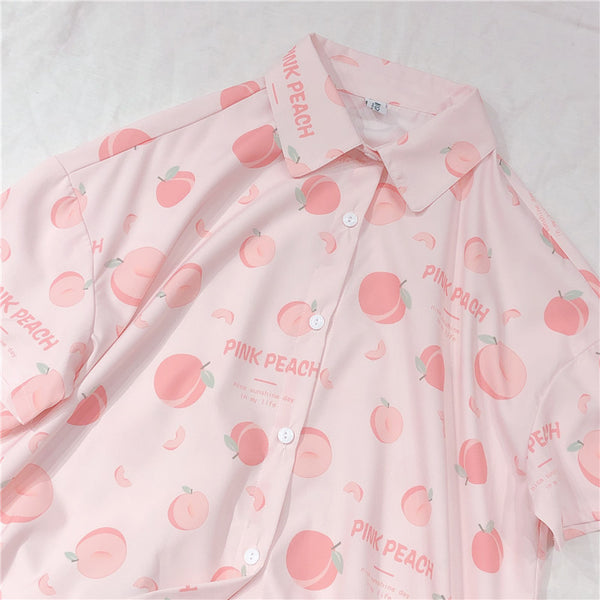 Peach Blouse-Mochipan
