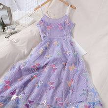 Load image into Gallery viewer, Butterfly Mesh Summer Dress-Mochipan