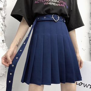 Heart Buckle Plus Size Skirt