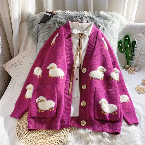 Fluffy Sheep Cardigan-Mochipan