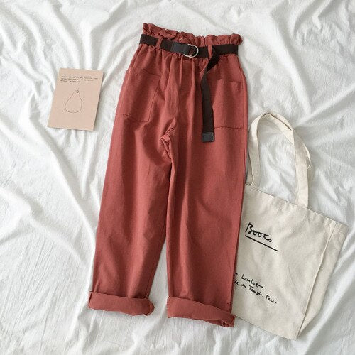 Pop of Color Pants-Mochipan
