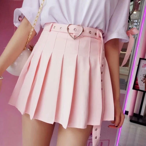 Heart Belt eGirl Skirt-Mochipan