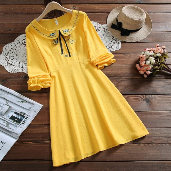 Sweet Sailor Collar Dress
