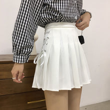 Load image into Gallery viewer, Lace Up High Waist Skirt-Mochipan