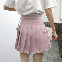 Lace Up High Waist Skirt-Mochipan