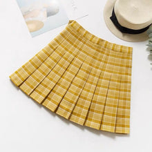 Load image into Gallery viewer, Spring Tones Plaid Pleated Skirt