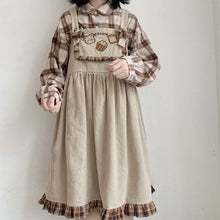 Load image into Gallery viewer, Vintage Corduroy Jumperskirt