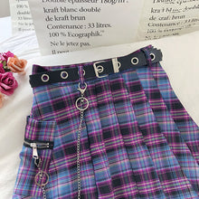 Load image into Gallery viewer, Pleated Plaid Combat Skirt