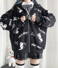 Load image into Gallery viewer, Loose-fit Goth Teddy Hoodie