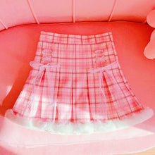 Load image into Gallery viewer, Pastel Plaid Santa Skirt