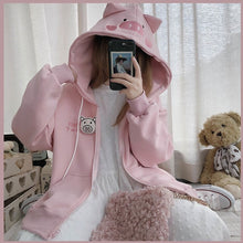 Load image into Gallery viewer, Cute Piggy Hoodie