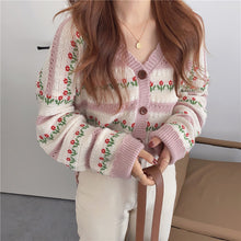 Load image into Gallery viewer, Sweet Flower Cardigan