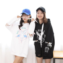 Load image into Gallery viewer, Kawaii Harajuku Rabbit Pentagram Hoodie-Mochipan