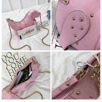 Dinosaur Leather Cross Body Purse-Mochipan