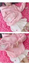 Load image into Gallery viewer, Harajuku Heart Sleeve Hoodie-Mochipan