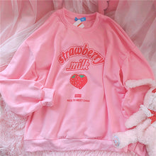 Load image into Gallery viewer, Lantern Sleeve Strawberry Milk Sweater-Mochipan