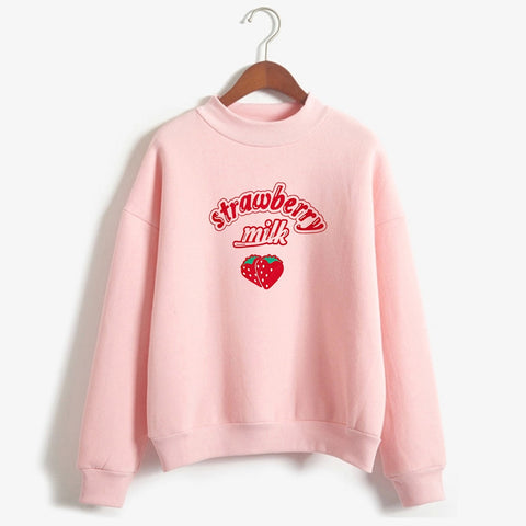 Pastel Strawberry Milk Sweater-Mochipan