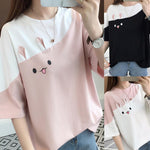 Cute Split Rabbit T-Shirt-Mochipan