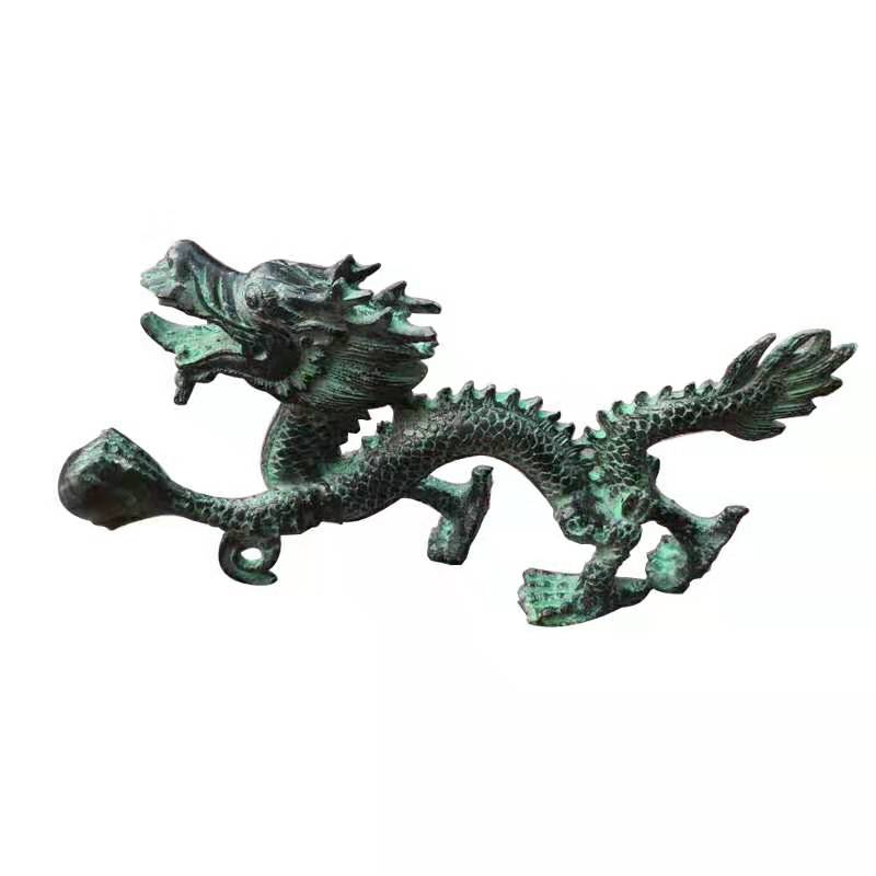 Bronze Dragon Holding the Ball of Universe