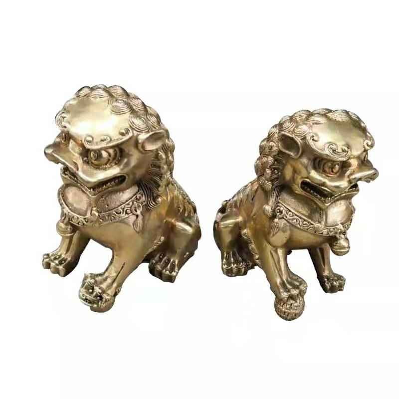 Bronze Foo Dogs With Gold finish