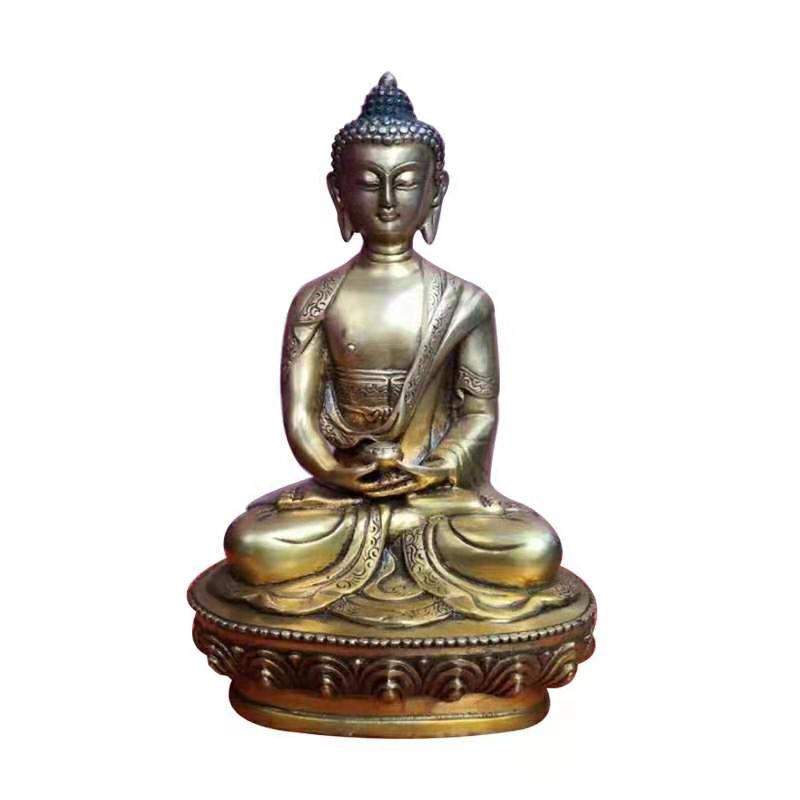Bronze Silver and Gold Plated Meditating Buddha