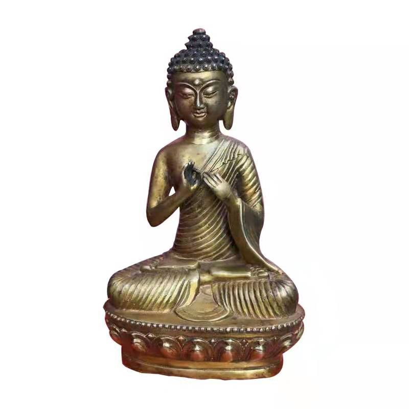 Bronze Sitting Buddha with fine carvings