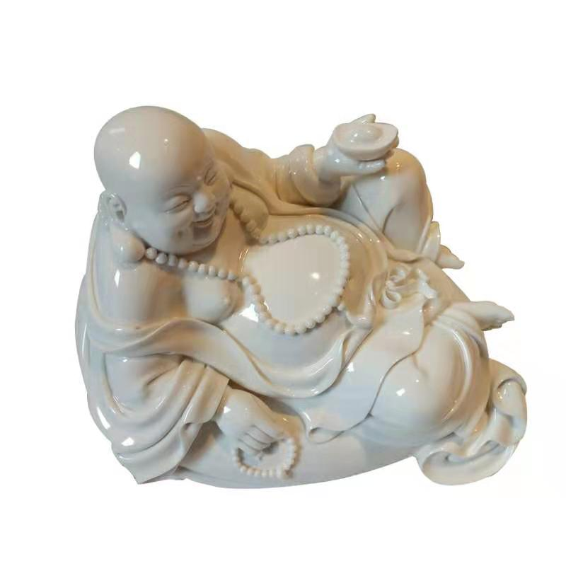 Porcelain Blanc de Chine Laughing Buddha