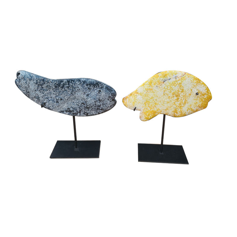 Stone Carved Fish (Set of 2)