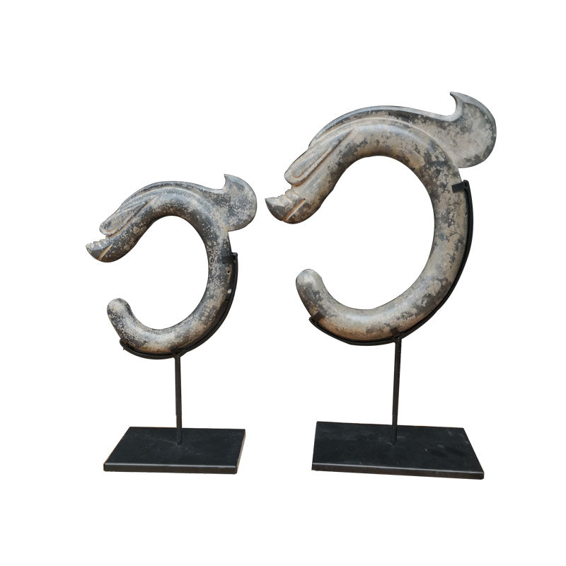 Stone Carved Dragon (Set of 2)