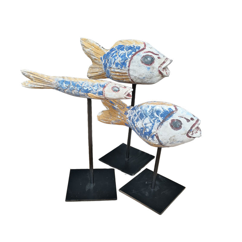 Wooden Fish Statue