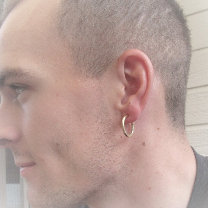 Mens Gold Hoop Earrings