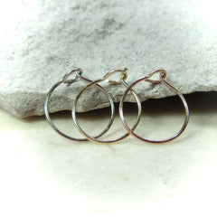 White gold, yellow gold and rose gold delicate nose rings