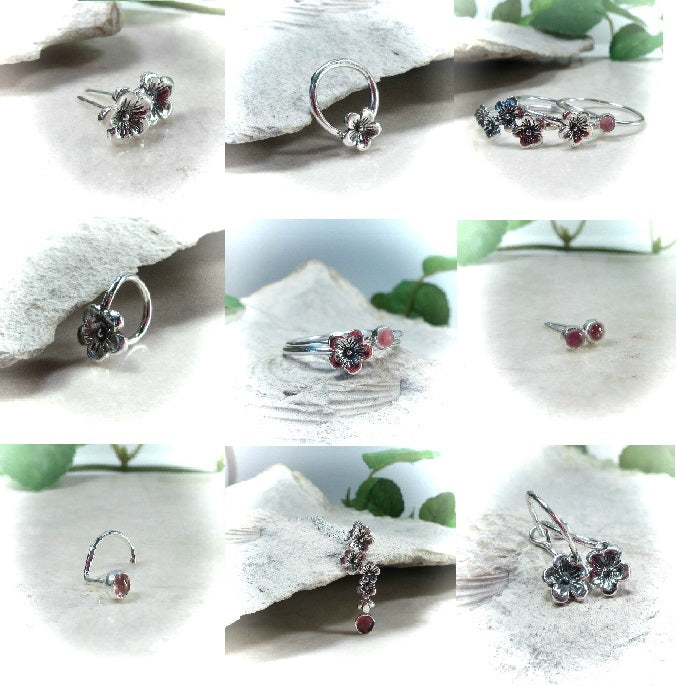 Cherry Blossom Piercing Jewelry and Nose Rings
