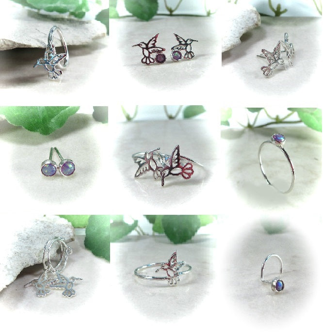Hummingbird Piercing Jewelery & Stacking Rings